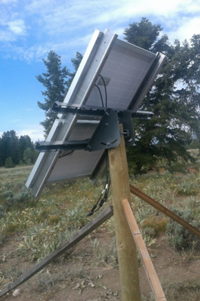 Solar panel attached.